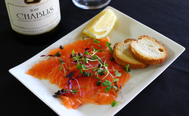 House smoked Salmon with Croustillon