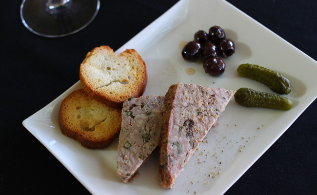 Duck Pate and Cornichon