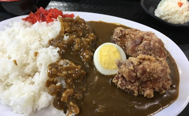 ピリ辛丼・唐揚げカレー