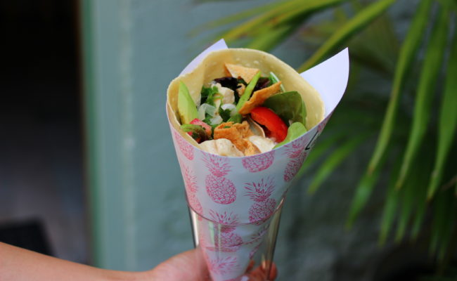Savory Salad Crepe - Chicken